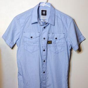 G-Star Arizona Shirt short-sleeve DK Wave blue